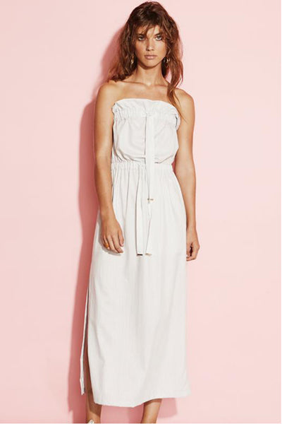 August Street - Twisted Nerve Strapless Dress