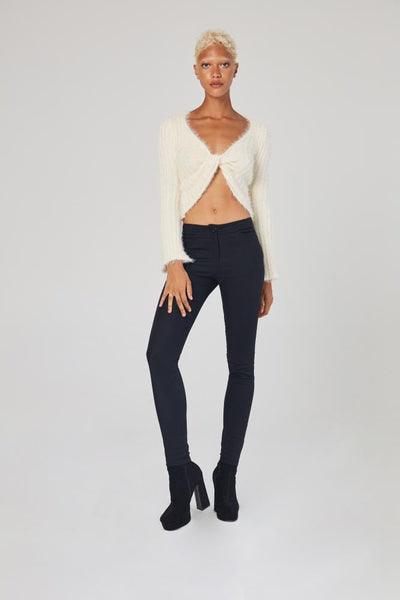 White Closet - Cream Knit Top - Lalabazaar