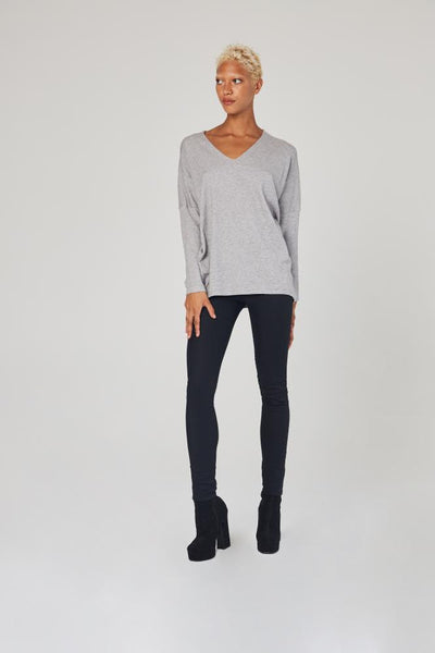 White Closet - Grey Knit - Lalabazaar