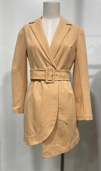 Finders Keepers - Mila Blazer Dress - Tan Sample