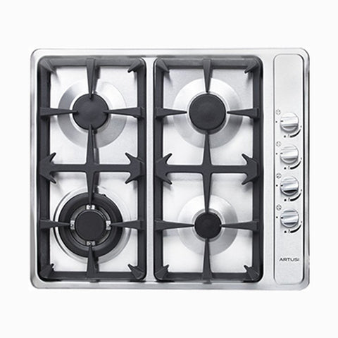 Artusi 60cm Natural Gas Stainless Cooktop - 4 Burner
