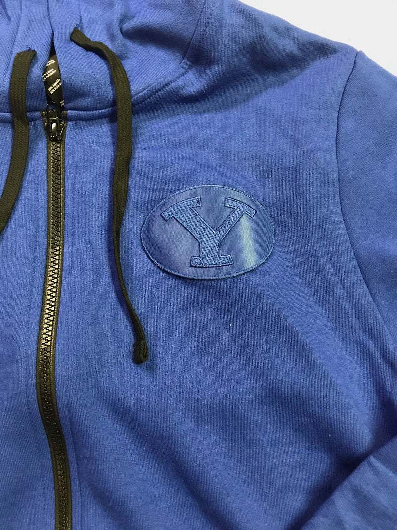 Royal Full-Zip with Royal BYU Stretch Y Patch
