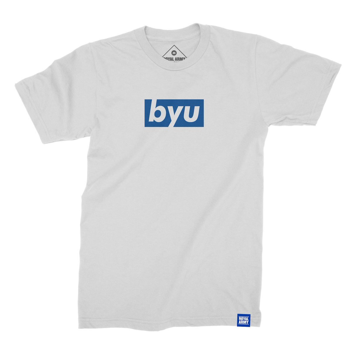 Box White with Royal BYU T-Shirt