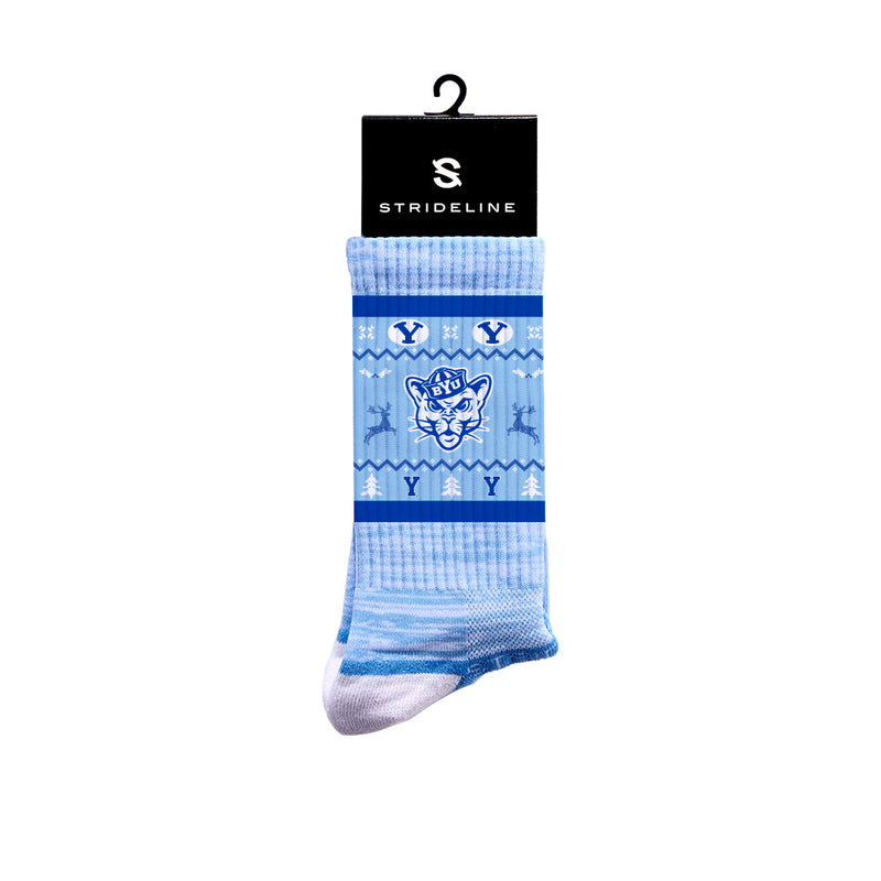 BYU Ugly Sweater Premium Crew Socks