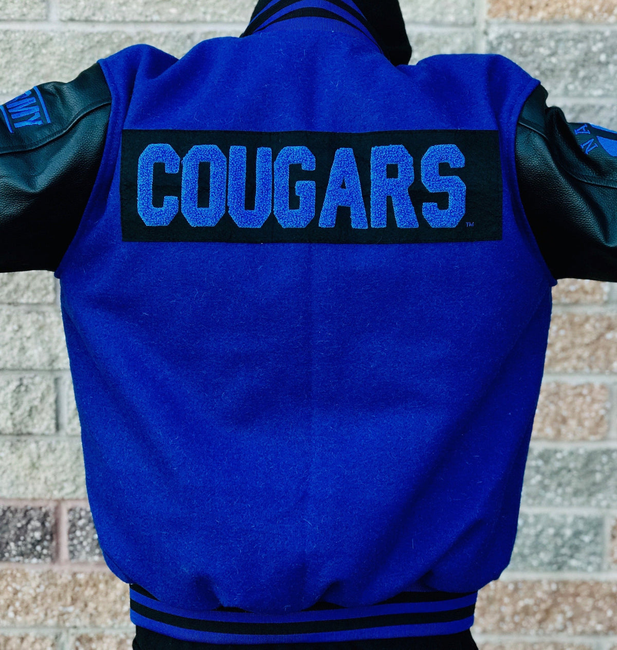 Limited Edition BYU Letterman Jacket - Black and Royal