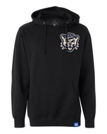 Black Fleece Hoodie with Chenille BYU Sailor Cougar Patch