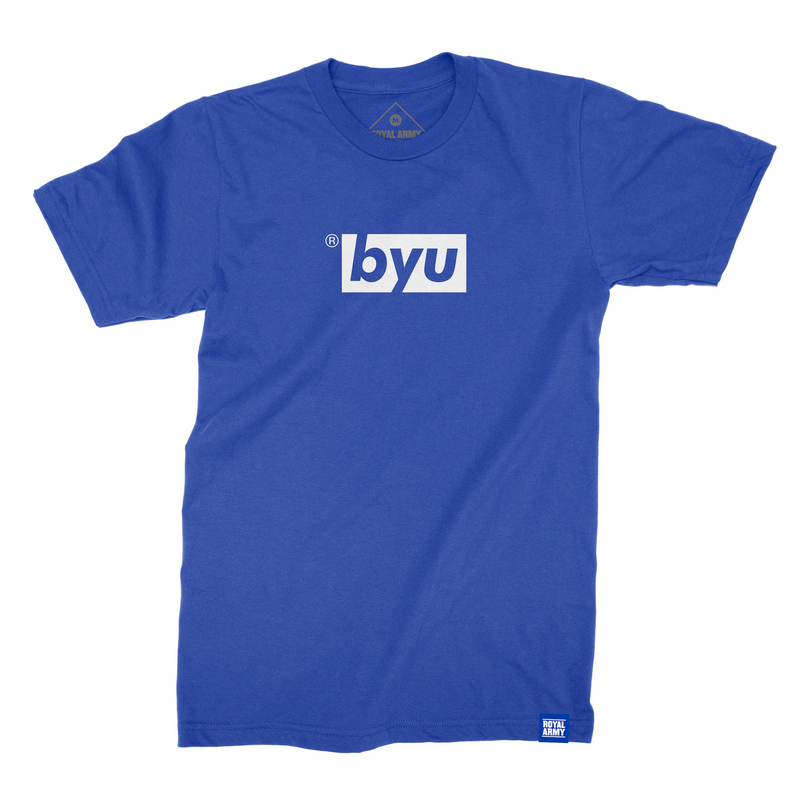 Box Royal with White BYU T-Shirt