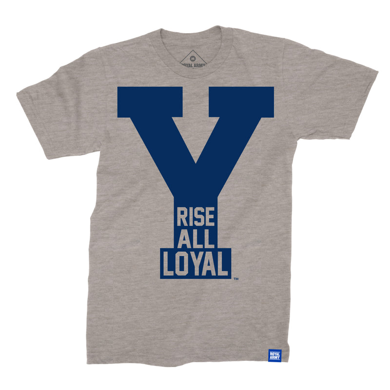 Rise All Loyal Gray with Navy BYU T-Shirt