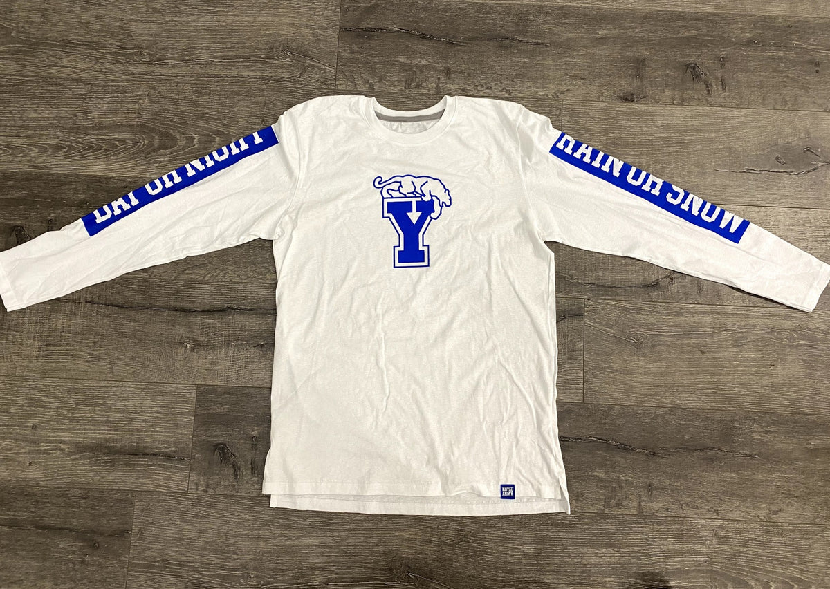 Day or Night, Rain or Snow Long-sleeve BYU T-Shirt