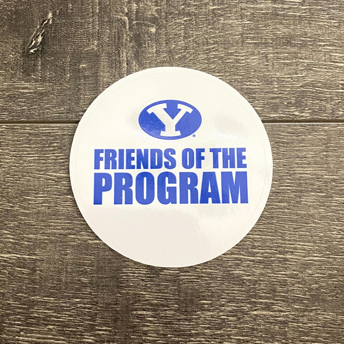 Friends of the Program 3.5-inch White and Royal Vinyl Sticker