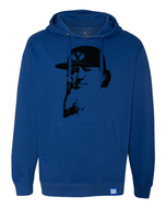 Flat Brim Brigham Pullover Hoodie - Royal and Black