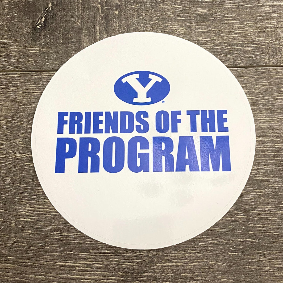 Friends of the Program 5-inch White and Royal Vinyl Sticker