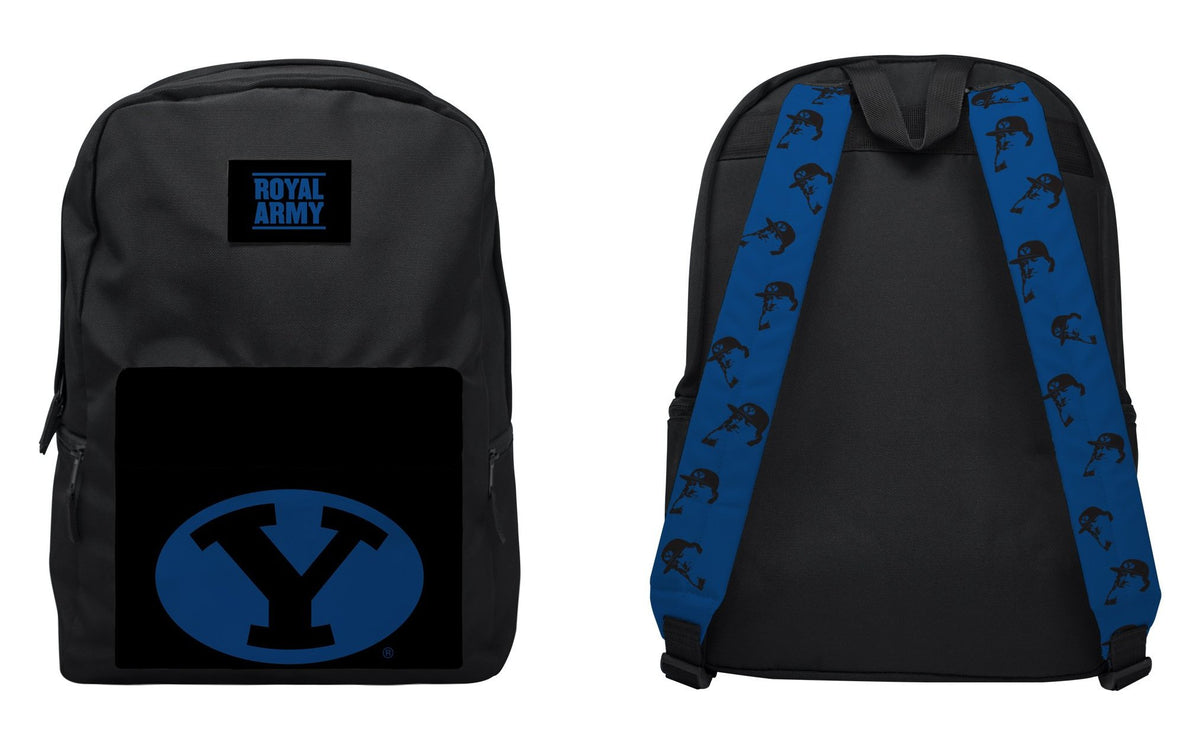 Stretch Y Black with Royal Backpack