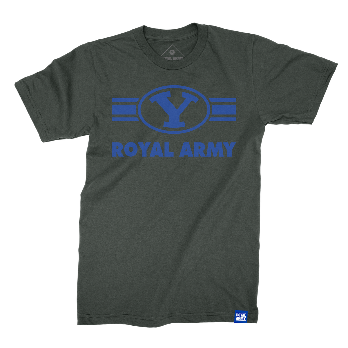 Royal Army Striped Y Logo T-Shirt
