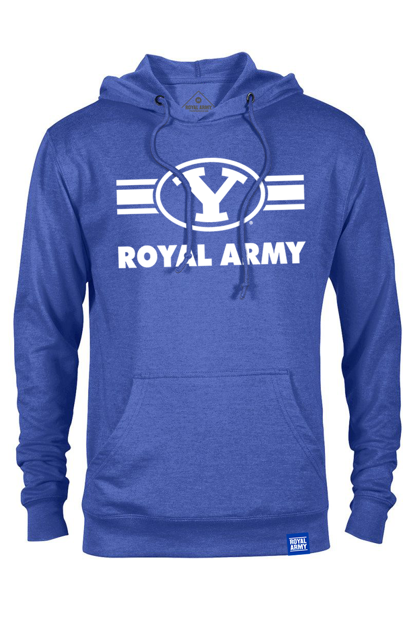 Royal Army Striped Y Royal Blue Lightweight Hoodie
