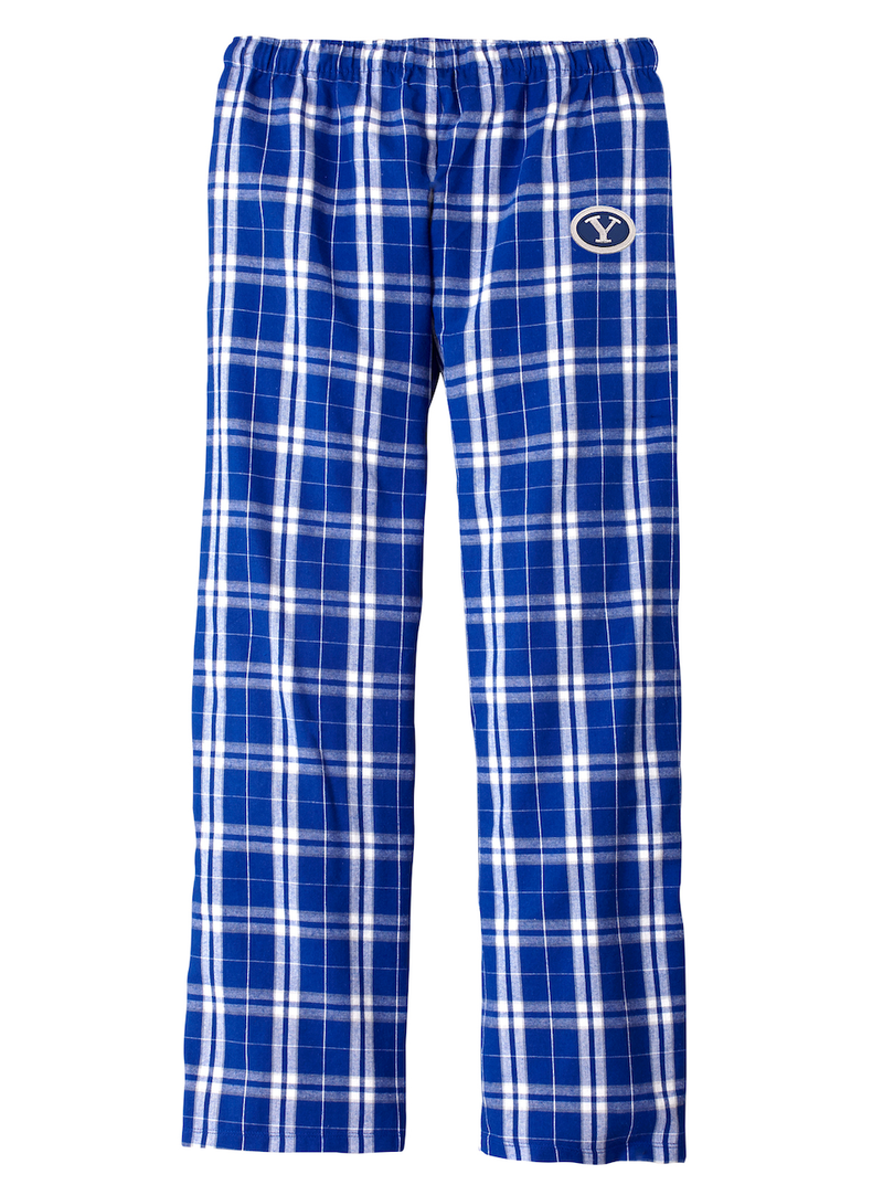 Women's Royal Plaid Flannel Pajama Pants with Mini Stretch Y Patch