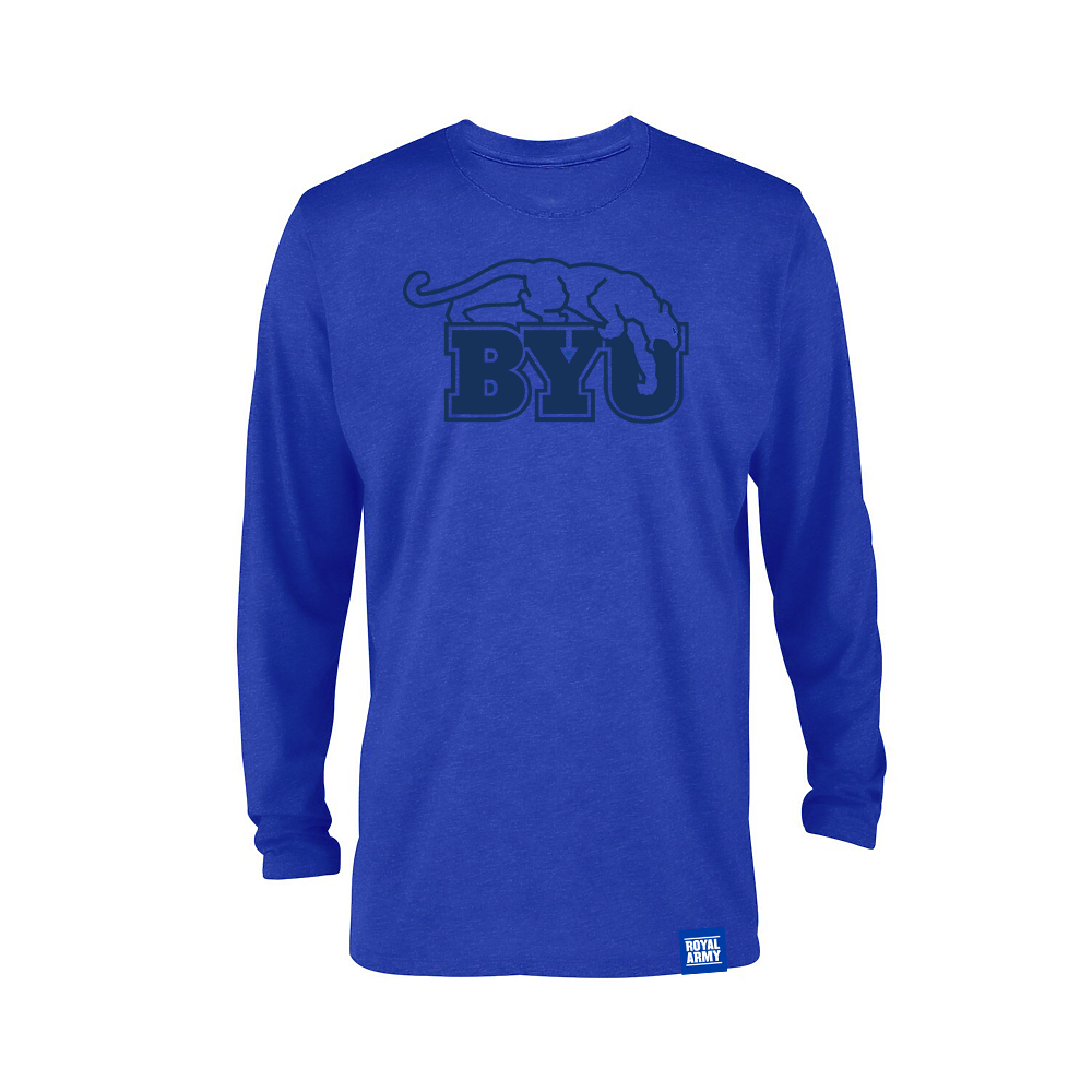 Long-Sleeve Royal Blue BYU Beet Digger T-Shirt