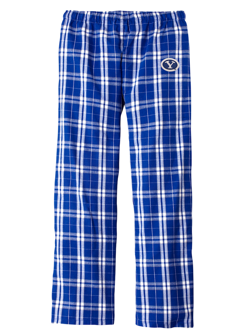 Royal Plaid Flannel Pajama Pants with Mini Stretch Y Patch