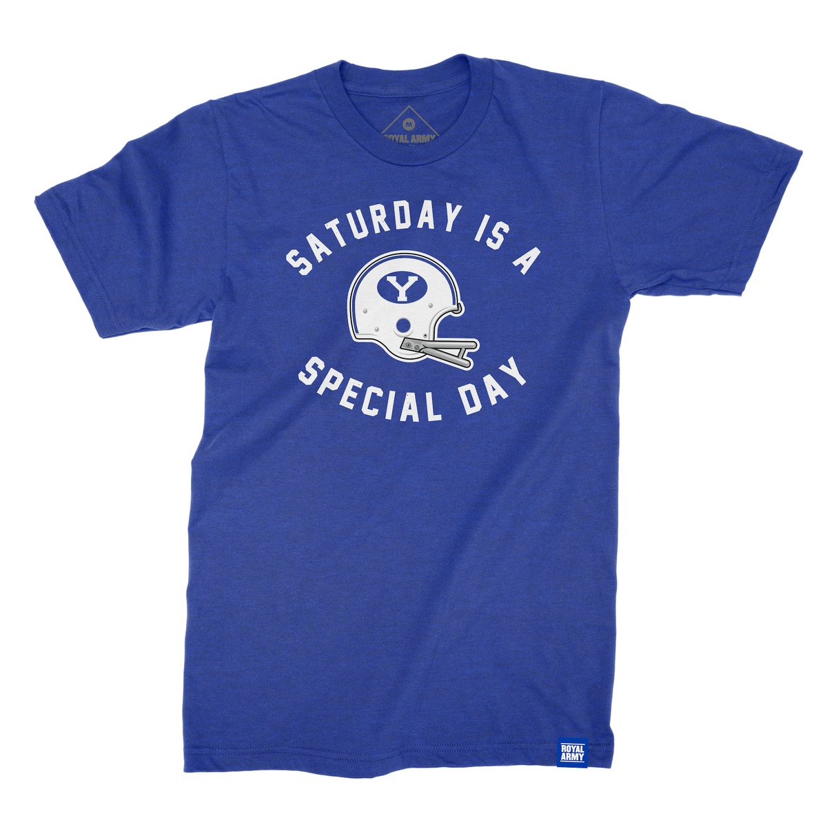 Saturday is a Special Day Helmet Edition Royal Blue T-Shirt