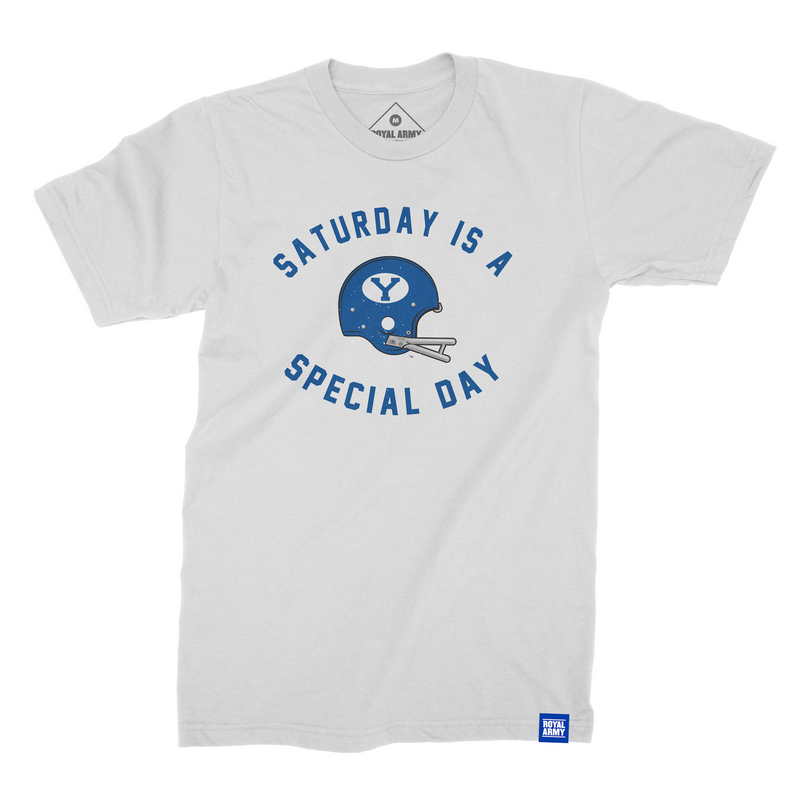 Saturday is a Special Day Helmet Edition White T-Shirt