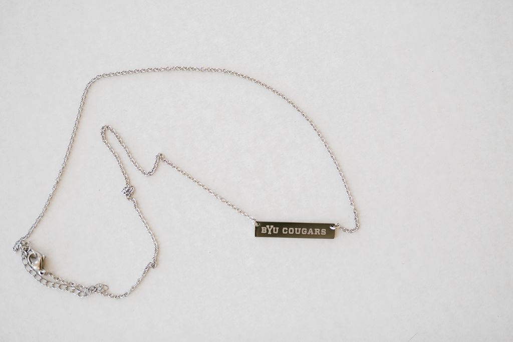 BYU Cougars Chain and Bar Pendant