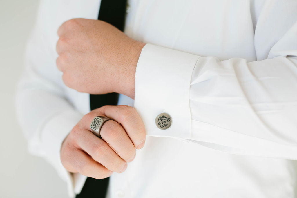 BYU Sailor Cougar Cufflinks