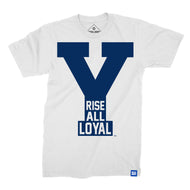 Rise All Loyal White and Navy BYU T-Shirt