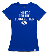 Here for the Cougarettes Women's BYU T-shirt