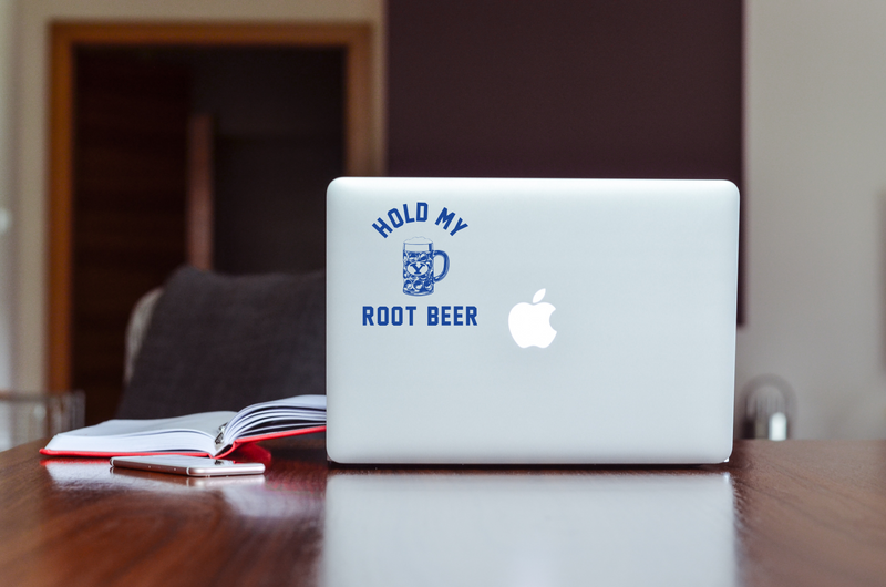 Hold My Root Beer Clear Vinyl Sticker
