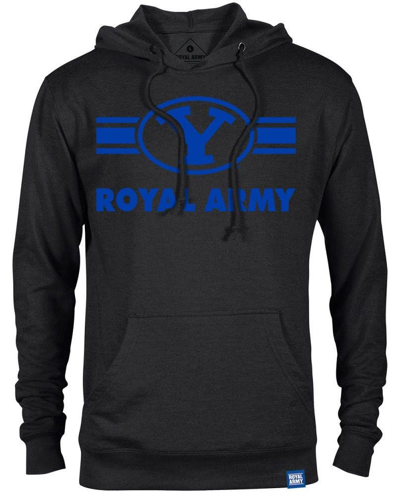 Royal Army Striped Y Black Lightweight Hoodie