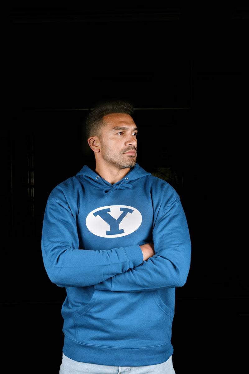 Classic Royal Fleece Hoodie with Silicone BYU Stretch Y