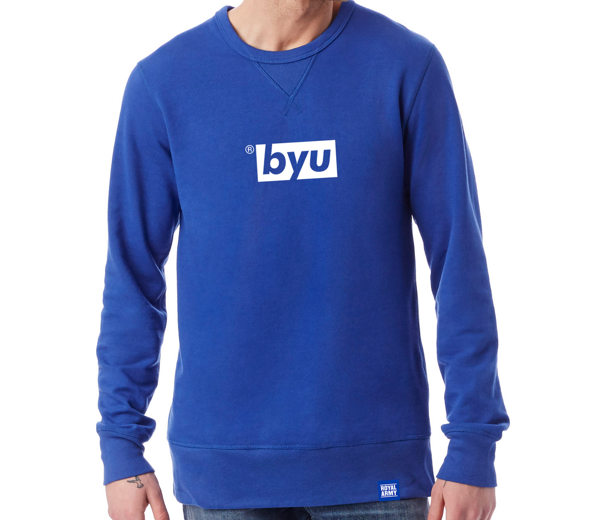 Box BYU Crew Sweatshirt