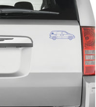 Minivan Clear Vinyl Sticker