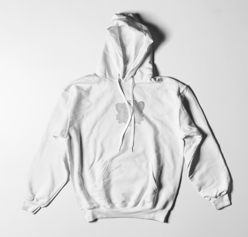 White Hoodie with Whiteout Sailor Cougar Patch