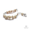 Mother-Of-Pearl Nugget Crystal Single Bracelet In Silver