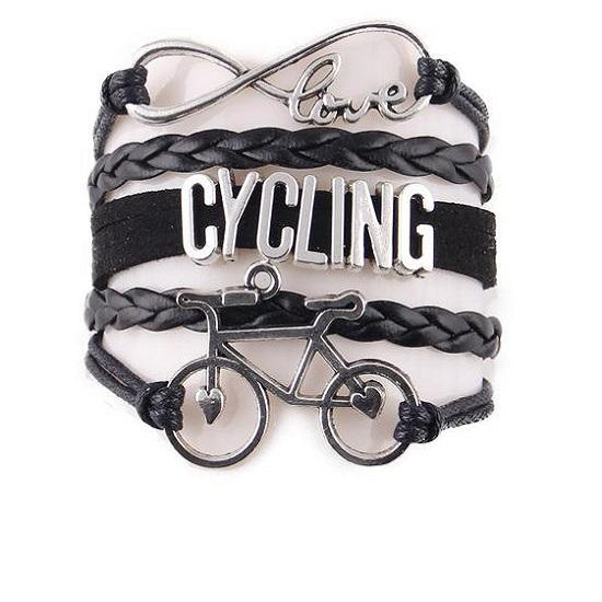 Infinity Love Cycling Bracelet Bike Charm - 4 COLOURS