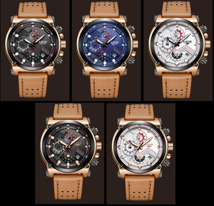 Brown LIGE Sports Watch