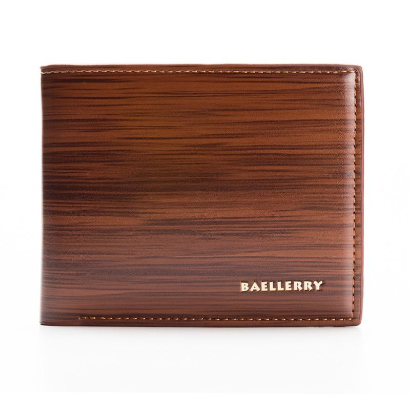 New Retro Wood Grain Men's Wallet - 3 COLOUR CHOICES