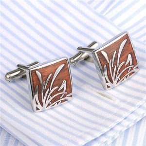 Vintage Wave Pattern French Cuff Links