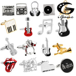 18 Music Themed Designed Cufflinks