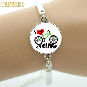 I Love Cycling Vintage Bicycle Bracelet - VARIOUS DESIGNS