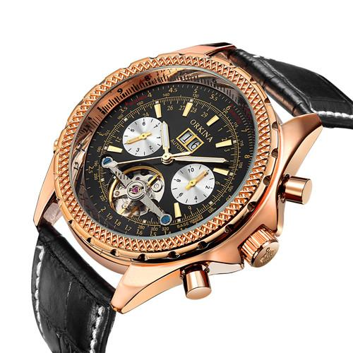 Luxury Men's Tourbillon Mechanical Wristwatch - 9 COLOUR CHOICES