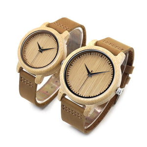 Natural Bamboo Watch - His or Hers