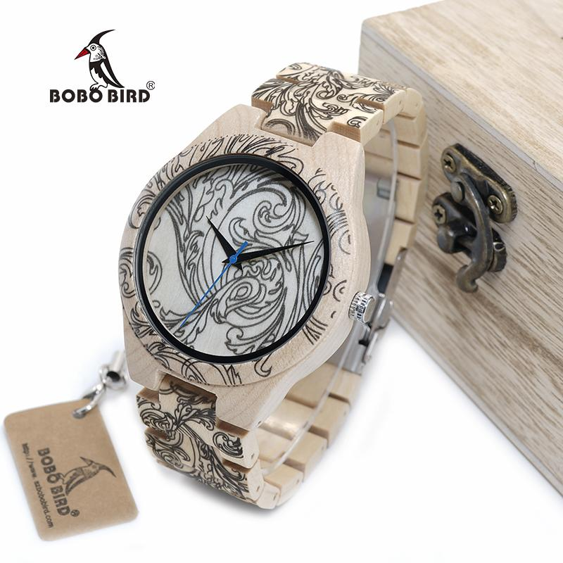 Pine Wooden Tattoo Quartz Watch