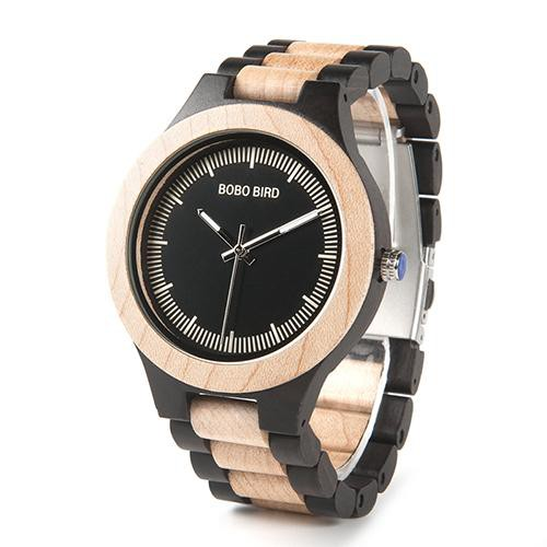 Ebony Red Wood Pine Wooden Watch - 2 COLOUR CHOICES