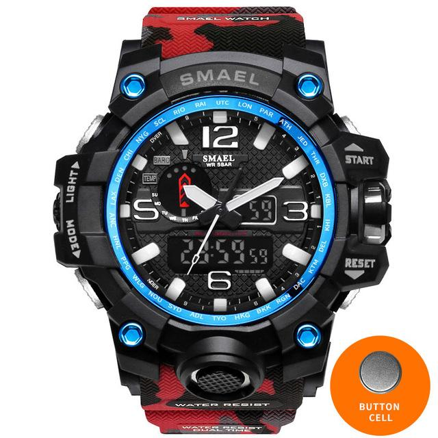 Men's Special Ops Military Camo Sports Watch - 5 Colour Choices