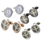 Real Clock French Cuff Links
