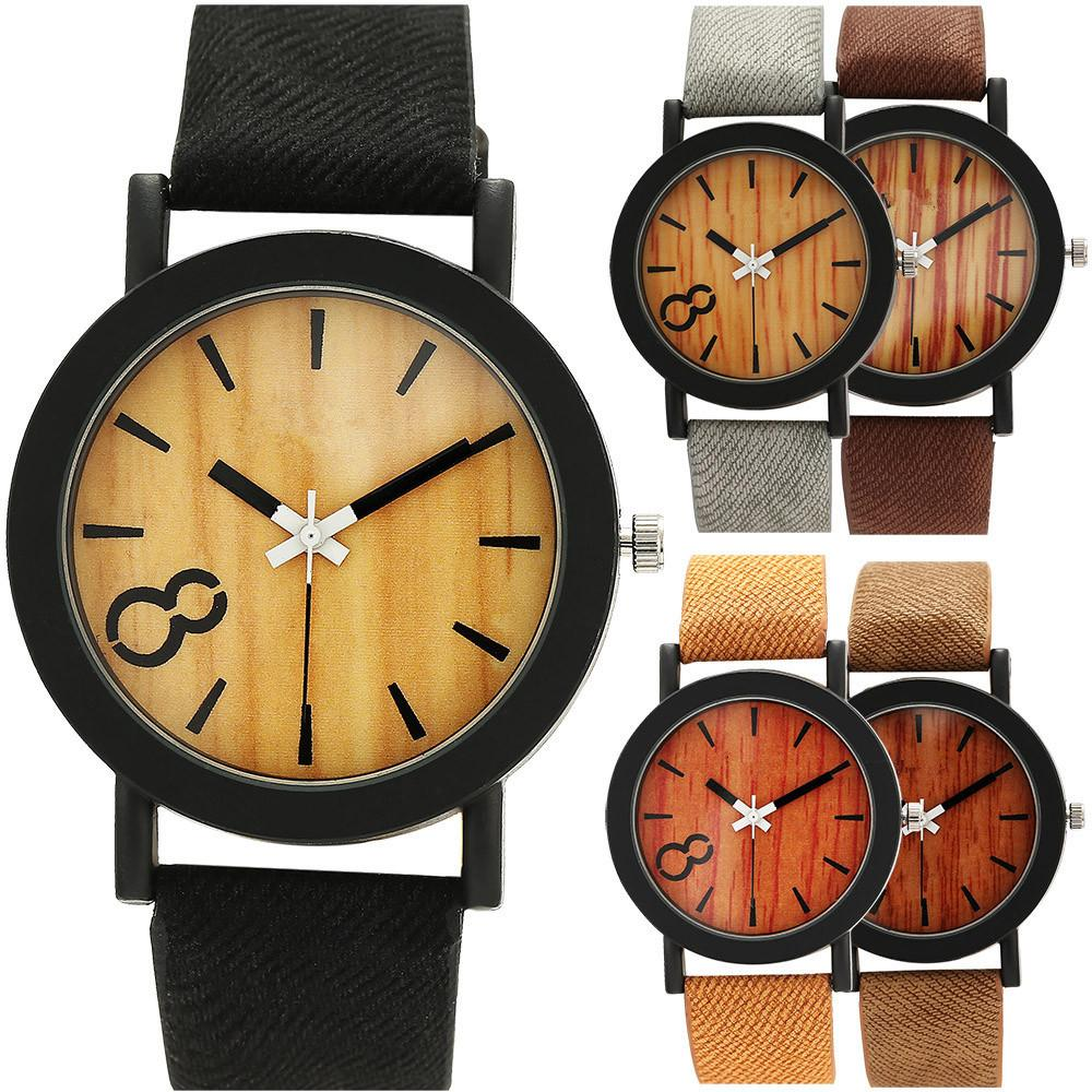 Unisex Wooden Fashion Leather Quartz Watch - 5 Colours To Choose From!