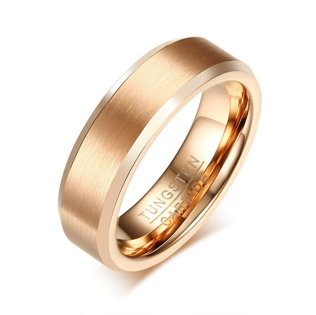 Rose Gold Tungsten Carbide Couples Ring