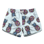 Pineapple Drawstring Casual Shorts